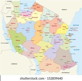 Uganda Region Map Stock Images RoyaltyFree Images Vectors