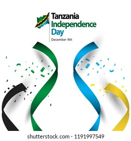 Tanzania Independence Day Vector Template Design Illustration