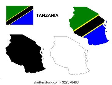 Tanzania Map Images, Stock Photos & Vectors | Shutterstock