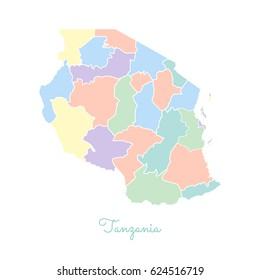 Tanzania Region Map Images Stock Photos Vectors Shutterstock