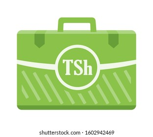 Tanzanian Shilling Money inside case box vector icon logo illustration and design. Tanzania currency, business, payment and finance element. Can be used for web, mobile, infographic, and print.