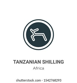Tanzanian shilling vector icon on white background. Flat vector tanzanian shilling icon symbol sign from modern africa collection for mobile concept and web apps design.