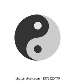 Taoism simple illustration clip art vector