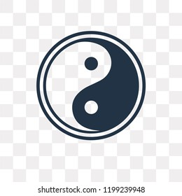 Taoism vector icon isolated on transparent background, Taoism transparency concept can be used web and mobile