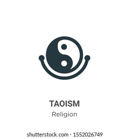 Taoism vector icon on white background. Flat vector taoism icon symbol sign from modern religion collection for mobile concept and web apps design.