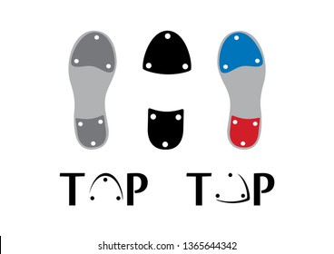 Tap dance shoes icon set vector. Tap shoes icon set vector. Sole tap shoes. Set dancing shoes on a white background