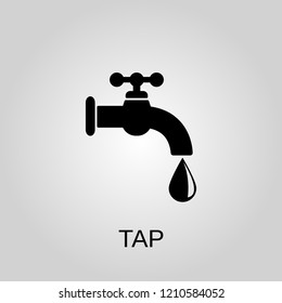 Tap icon. Tap symbol. Flat design. Stock - Vector illustration