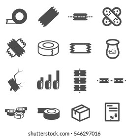 tape icon set vector