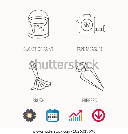 Cool Tape Measure Bucket Paint Paint Brush Stock Vector Royalty Free Wiring Digital Resources Remcakbiperorg
