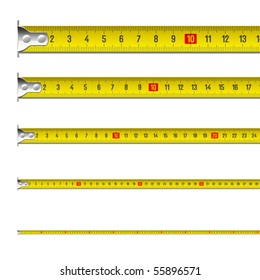 Tape measure in centimeters. Vector.