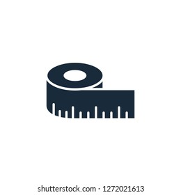 tape measurement icon symbol logo template