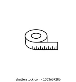 Tape measurement icon symbol logo template. Vector