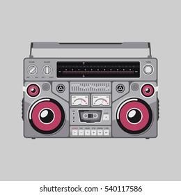Tape Recorder Flat Vector Illustration