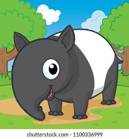 Download Baby Tapir Cartoon Gif