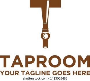 Taproom beer bar letter T Logo
