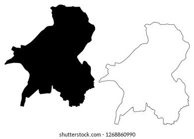 Taraba State (Subdivisions of Nigeria, Federated state of Nigeria) map vector illustration, scribble sketch Taraba map