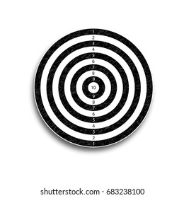 The target is 10 points, black and white, vector illustration