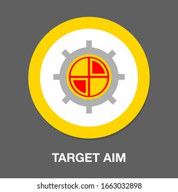 aim icon images stock photos vectors shutterstock https www shutterstock com image vector target aim icon vector symbol cross 1663032898