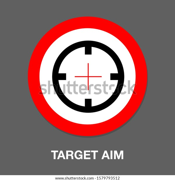 target aim icon vector target symbol stock vector royalty free 1579793512 shutterstock