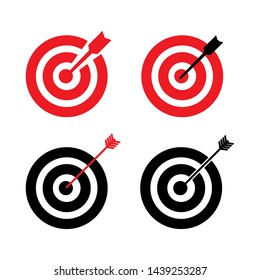 Target aim sign icon. Darts board flat icon design  - vector illustration.