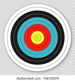 Target for archery target on transparent background.