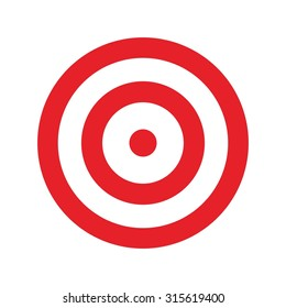 target for archery. shooting target logo vector.