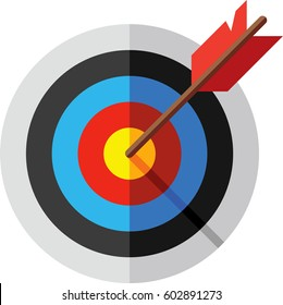Target, arrow and bulls eye icon