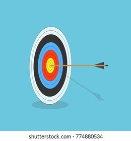 Target with arrow. Business success concept. Vector illustration.