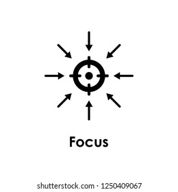 target, arrow, focus icon. One of the business collection icons for websites, web design, mobile app