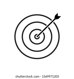 Target and arrow icon vector isolated on white background