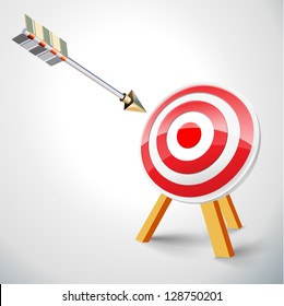 Target with arrow (vector)