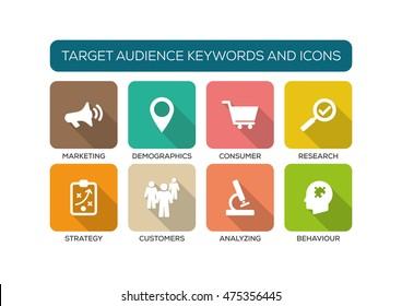 Target Audience Flat Icon Set