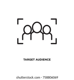 Target audience vector icon, goal client symbol. Modern, simple flat vector illustration for web site or mobile app