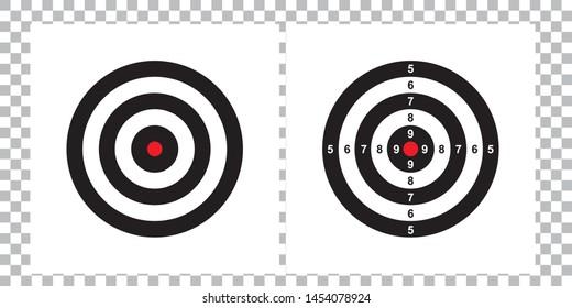 Target, Blank & Arrow or  gun target paper shooting  vector