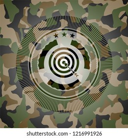 target, business icon on camo texture