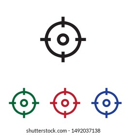 target circle icon vector illustration