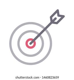 target colour line vector icon