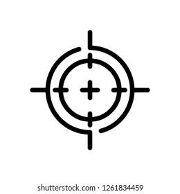 Target, Crosshairs, Bullseye, Binoculars Icon Vector