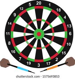 Target dart board vector art design