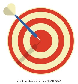 Target with darts, 3d icon, Vector illustration