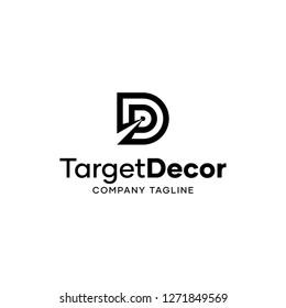 Target Decoration D Letter Logo Template