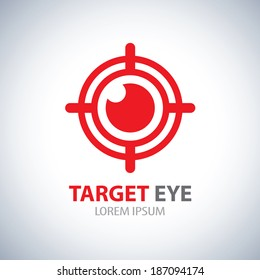 Target eye symbol icon. Vector illustration, Logo template design