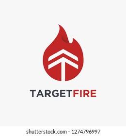 Target And Fire logo design inspiration