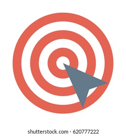Target Flat Vector Icon