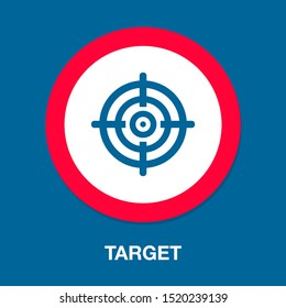 target goal icon, target focus arrow, marketing aim
