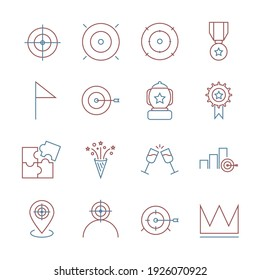 Target and Goal set icon, isolated Target and Goal set sign icon, vector illustration