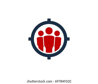 Target Group Icon Logo Design Element