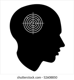target of the human mind Isolated over background and groups, vector illustration