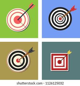 Target Icon. Aim symbol for web site design, logo, app, UI. Vector illustration, EPS10
