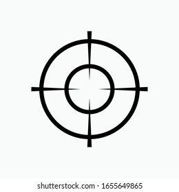 Target Icon. Aiming Sign. Goal or Focus Symbol.